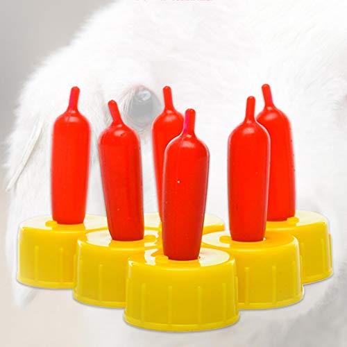 lamta1k Haustier Nippel,10Pcs / Set Hund Katze Schaf Lamm Getr?nke Flaschen Nippel Schnuller Sauger Werkzeug Pet Supplies