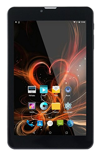 Xoro TelePAD 7A3 17,8 cm (7 Zoll) Tablet-PC (ARM Cortex A53, 1GB RAM, 8GB Flashspeicher, 3G, UMTS, Android 5.1) schwarz