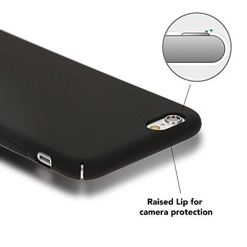 iPhone 6 6S Hülle Handyhülle von NICA, Dünnes Hard-Case Schutzhülle Matt, Ultra-Slim Cover Etui leichte Handy-Tasche, Ultra-Slim Phone Backcover Skin Bumper für Apple iPhone-6S 6, Farbe:Grün Schwarz