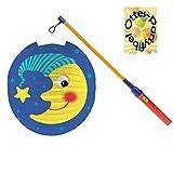 HHO Laternenset Ballonlaterne Lampion Mond + LED Laternenstab Leuchtstab