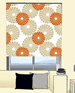 Cream Gold And Orange Retro Patterned Trimmable Roller