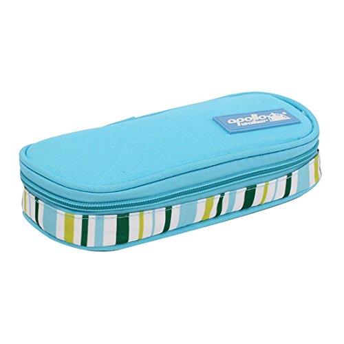 Astuccio termico portatile, per medicinali e insulina, borsa da viaggio per diabetici azzurro