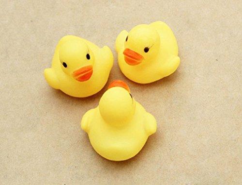 Ularma 12 Gummi Ente Entchen Bad Baby Dusche Spielzeug Party Gefälligkeiten Spielzeug Gelb Ente - 3
