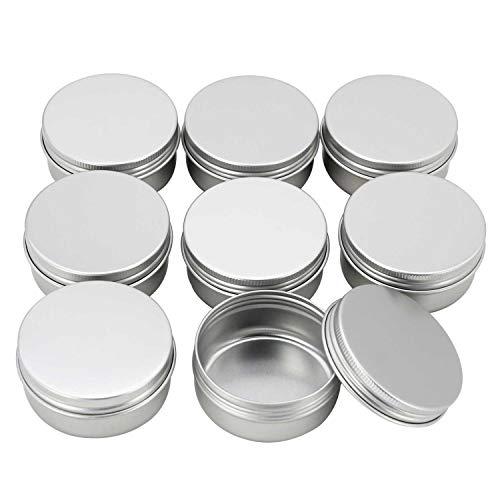 Cremedose Leere Dosen Schraubdose 50ml, Alu-Tiegel aus Aluminium, mit Schraub-Deckel, Alu-Dose...