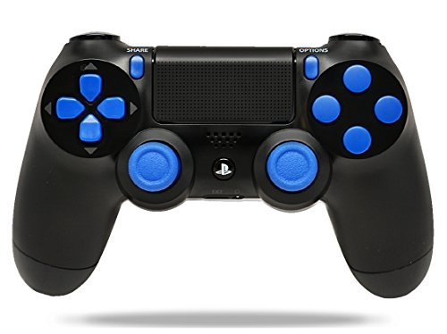 Black/Blue PS4 Playstation 4 Rapid Fire Modded Controller for COD Black Ops 3, AW, Ghosts, Destiny, Battlefield: Quick Scope, Drop Shot, Auto Run, Sniped Breath, Mimic, More by Controller Customizer (Cod Aw Modded Controller)