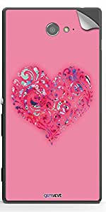GsmKart SXM2 Mobile Skin for Sony Xperia M2 (Pink, Xperia M2-370)