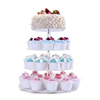 FOBUY Cupcake Stand Acrylic 5 Tier Round Cake Stand for Wedding Party (7 Tire U-Type)