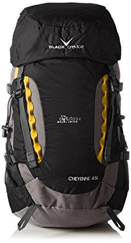 Black Crevice Cheyenne Sac à Dos pour Adulte Noir Noir 62 x 30 x 20 cm, 45 Liter