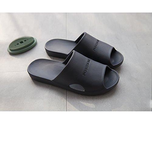 Chaussons Accueil salle de bain sandales été intérieur salle de bain glissant couple maison en plastique souple chaussure pour hommes ( Couleur : A , taille : 26-26.5cm ) A