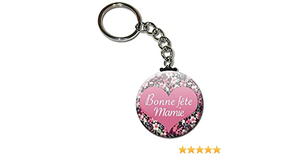 Bonne F/ête Mamie Porte Cl/és Cha/înette 3,8 centim/ètres Id/ée Cadeau Accessoire pour la F/ête des Grands M/ères No/ël Anniversaire Mamy