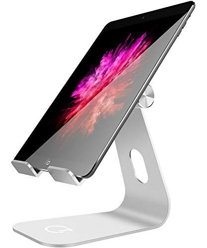 Tablet ständer, Gritin Handyhalterung Phone Dock Multi Winkel Aluminium verstellbar Stabil Stand für iPad Air Mini 2 3 4, iPad Pro 9.7 / 10.5, iPhone X und anderer Tablets