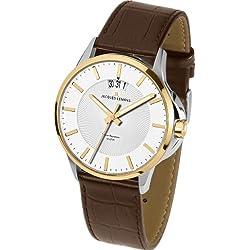 Jacques Lemans Sydney 1-1540H Men's Brown Leather Strap Watch
