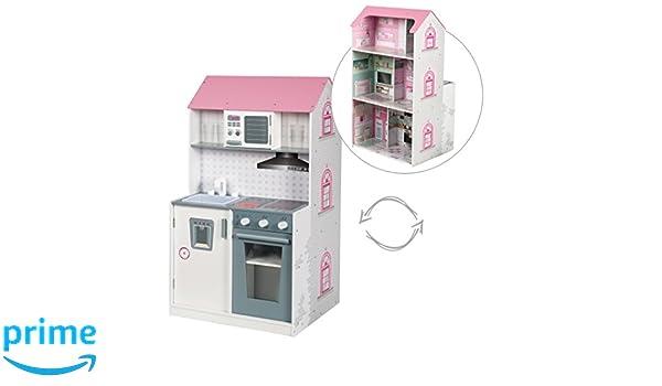 Outdoor Küche Kinder Roba : Roba puppenhaus und küche 2 in 1 vorderseite puppenhaus inkl. 6