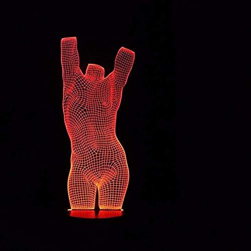 7 Farben Ändern Figur LED Tischleuchte 3D Mode Kleidung Modelle Nachtlichter Schlaf Beleuchtung Schlafzimmer Nacht Dekor Geschenke - Freund Kleidung Passende