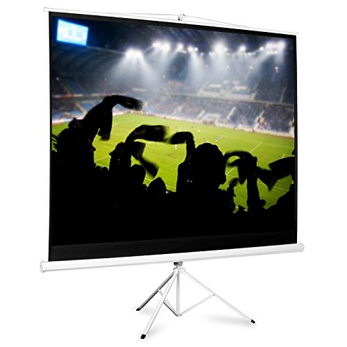 Compare Prices for Home Cinema Projector Screen with Tripod (200x150cm, Gain Factor: 1.0, Ease of Mobility) Special