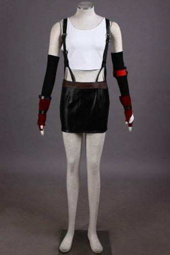 7 Tifa Halloween-Abendkleid Cosplay Costume,Maßgeschneiderte,Größe M: Höhe 160cm-165cm (Tifa Cosplay Kostüm)