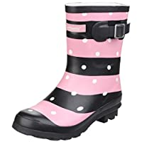 Cotswold Badminton Womens Synthetic Material Wellies Stripe - 6 UK