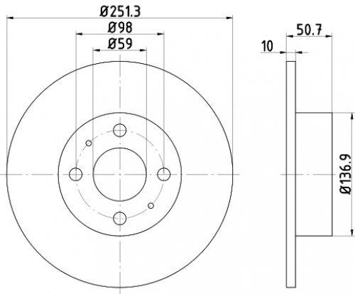 Preisvergleich Produktbild Textar 92034203 Bremsscheibe, Anzahl 2
