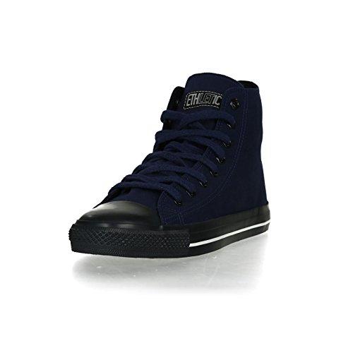 Ethletic Black Cap HiCut / High-Sneaker Collection 17 aus Bio-Baumwolle – dunkelblau / schwarz - 2