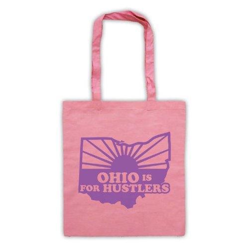 Ohio è per Hustlers Slogan-Borsa shopper, stile vintage Rosa