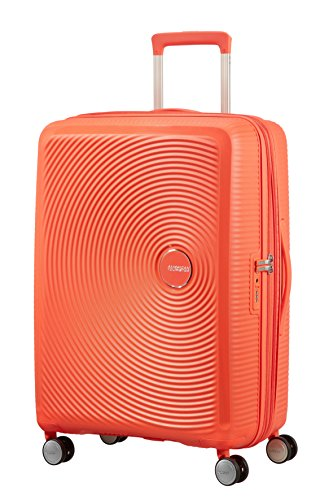 American Tourister - Soundbox Spinner Extensible, 67cm, 71,5/81 L - 3,7 KG, Orange (Spicy Peach)