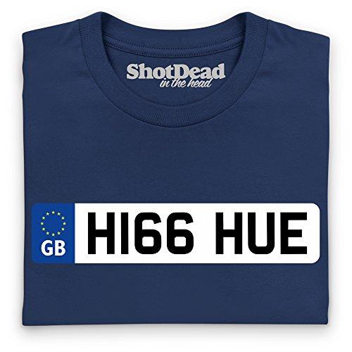 LRO Hue Number Plate T-Shirt, Damen Dunkelblau