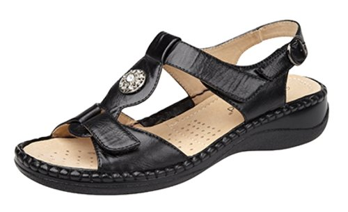 ladies-touch-fastening-halter-back-sandals-with-leather-lining-black-size-7-uk