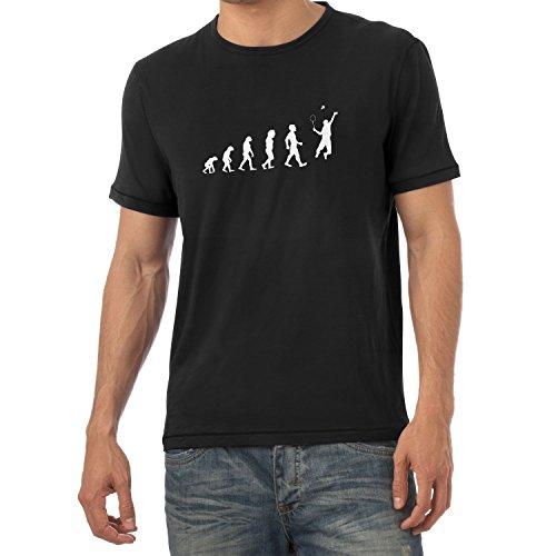 Texlab Badminton Evolution - Herren T-Shirt, Größe M, Schwarz -