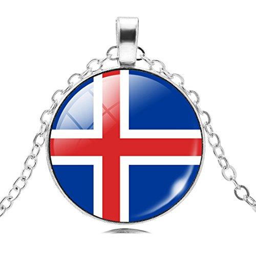 Glaskuppel Anhänger Halskette Für Frauen Mädchen (Insel Kostüme)