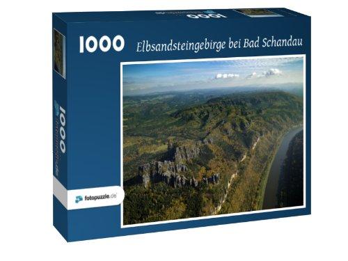 Preisvergleich Produktbild Elbsandsteingebirge bei Bad Schandau - Puzzle 1000 Teile mit Bild von oben