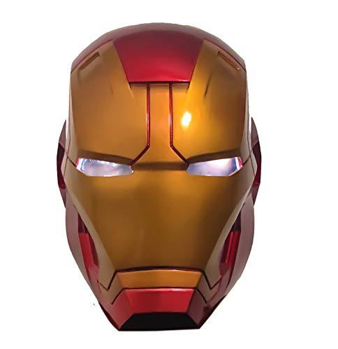 yacn Máscara Ironman | Eye Led Lights Cascos | Coleccionables Ironman para Niños Y Adultos