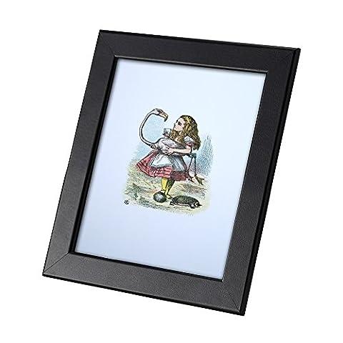 Alice in Wonderland Carte Postale Authentique Avec Cadre With The Flamingo And Hedgehog Cadeau Drôle