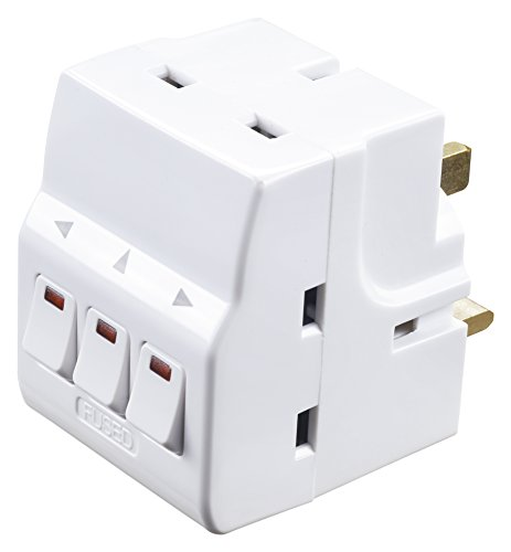 Masterplug Individually Switched Adaptor with 3 Sockets