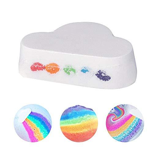 Baiwka Regenbogenwolke Badebombe, Feuchtigkeitsspendende Hautpflege Handgefertigte Naturbadensprudelnde Salzwolkenseife, Badebombe Mit Lebendiger Regenbogenfarbe Für Trockene Haut
