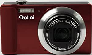 Rollei Powerflex 800 Bundle Digitalkamera (14 Megapixel, 12,5-Fach opt. Zoom, 6,9 cm (2,7 Zoll) LCD, 24mm Weitwinkelobjektiv)  inkl.Tasche, 4GB Speicherkarte rot