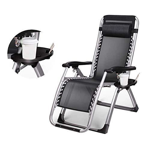 NNDQ Klappbare Schwerelosigkeit Liegestühle Liegestuhl, Gartenterrasse, Kopfstütze im Freien, Strandterrasse/Ablage - Möbel Baldachin Schlafzimmer