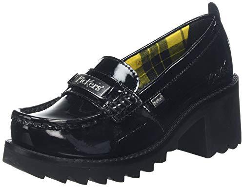 Kickers Klio Loafer, Zapatos de tacón con Punta Cerrada para Mujer, Negro Black Blk, 37 EU