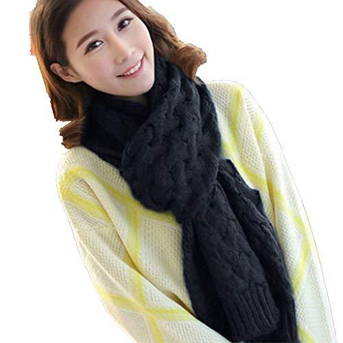 Xpff sciarpe scaldacollo a maglia scaldacollo per donna inverno tinta unita