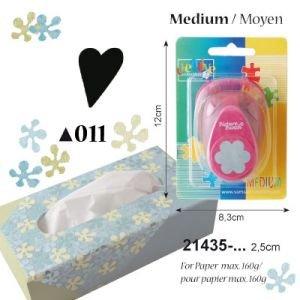 Vaessen Creative Motivstanzer Herz 2, Medium, Motivlocher aus Metall und Plastik, Ausgestanztes Motiv 14,5 x 22,7 mm, zum Basteln mit Papier