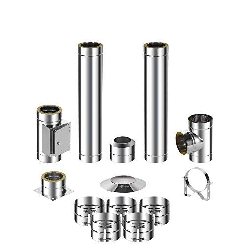 ADT Diamantwerkzeuge GmbH Kit de montage pour cheminée en acier inoxydable DW 150 3,2m 0,6