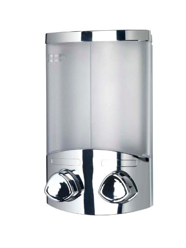 Croydex Euro Soap Dispenser Duo Chrome