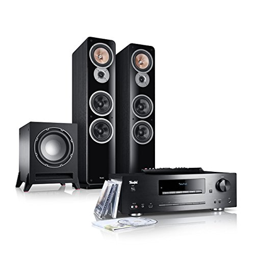 Teufel Kombo 62 Power Edition Schwarz Stand-Lautsprecher Sound Bassreflex 3-wege FLAC Hifi Hochtöner Lautsprecher High End Hifi Speaker Stereoanlage