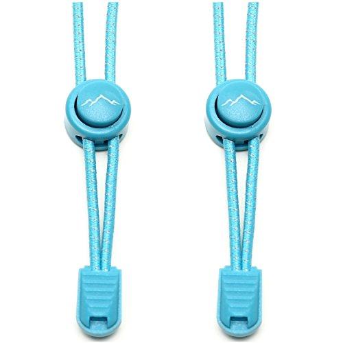 he Schnürsenkel - Gummi Schnellschnürsystem ohne Binden | für Kinder, Herren, Damen I 1x Paar: blau ()