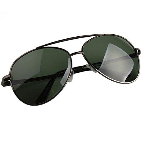 LXKMTYJ Die Sonnenbrillen Herren Sonnenbrillen Männlichen und Fahren eine Brille Männer echte Offset optische Sonnenbrille, Black Box auf der dunklen grünen Chip