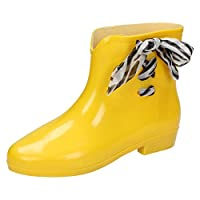 Spot On Womens/Ladies Bow Ankle Wellington Boots