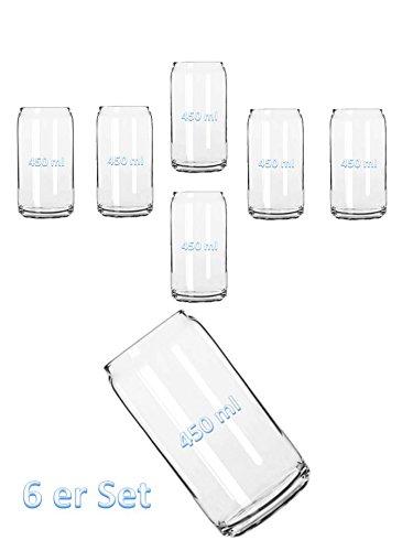 USA Bierdose aus Glas 450ml