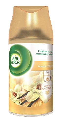 Air Wick Fresh Matic Ricarica Spray Automatico, Vaniglia e Thè Bianco - 2 bombolette