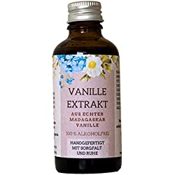 Vanille-Extrakt ohne Alkohol | Handgefertigt aus echter Vanille | 100% natürliche Zutaten | Zum Backen und Verfeinern von Speisen und Getränken | (50 ml)