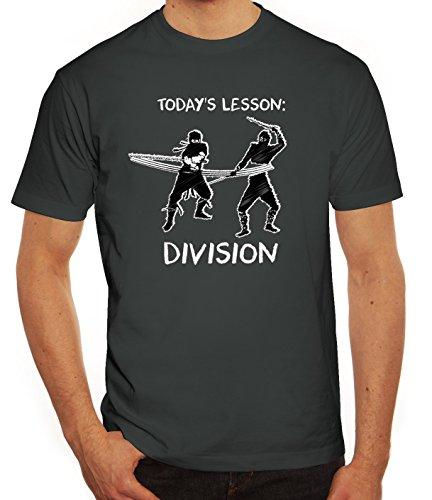 Sport Herren T-Shirt mit Ninja Division Motiv von ShirtStreet Darkgrey