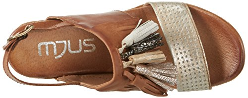Mjus 673009-0301, Sandales  Bout ouvert femme Mehrfarbig (Platino+Biscotto+Argento+Nero+Bianco)